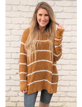 Make It Snappy Sweater  Golden Raisin by Hazel & Olive