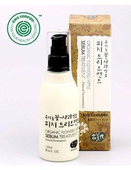 Whamisa Organic Flowers Apple Sebum Treatment 120ml, 4.06 Fl. Oz., Alcohol Free Excess Sebuml Control For Oily Skin   Naturally Fermented, Ewg Verified by Whamisa