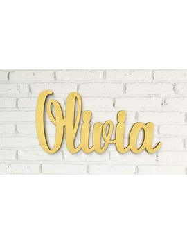 Wood Letters For Wall Decor Name Wood Sign In Gold Decor For Girls Room (Also In Different Colors & Sizes) by Amazon
