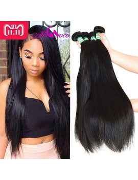 Ali Coco Brazilian Straight Hair 4 Bundles 100 Percents Human Hair Bundles 8 28 Inch Brazilian Hair Weave Bundles Non Remy Extensions by Ali Coco
