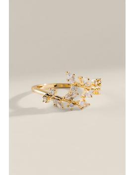 Cz Vine Wrap Ring by Francesca's