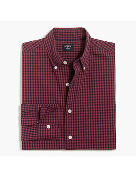 Slim Flex Washed Shirt In Mini Gingham by J.Crew