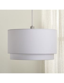 Meryl Double Drum Pendant Light by Crate&Barrel