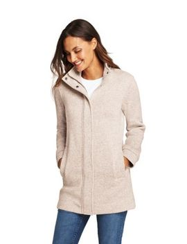 Women's Sweater Fleece Coat by Lands' End