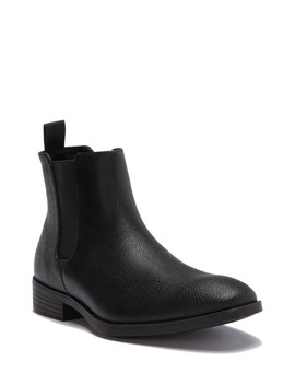Carter Tumbled Leather Chelsea Boot by Calvin Klein