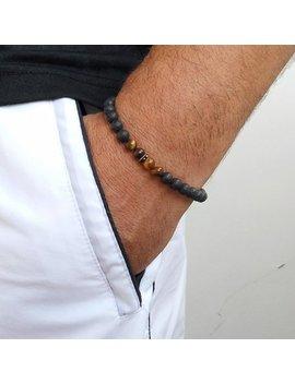 Men's Bracelet, Lava, Tiger Eye, Beaded Men Bracelet, Simple Men Bracelet, Men's Beaded Bracelet Men's Bracelets Beaded Men 6mm by Etsy