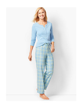 Pajama Set   Flannel Glen Plaid by Talbots