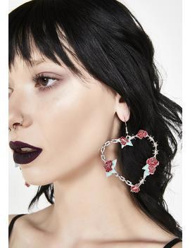 Fully Bloomed Heart Earrings by Ciel