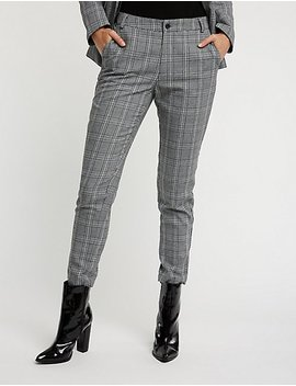 Plaid Skinny Trousers by Charlotte Russe