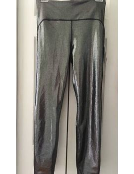 Nwt Joy Lab Metallic Gunmetal Gray Women's High Rise Shine Leggings Size M Or Xxl by Joy Lab
