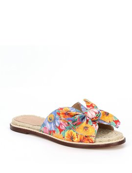 Drevin Floral Espadrille Slide Sandals Made With Liberty Fabrics by Antonio Melani