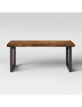 Thorald Wood Top Coffee Table With Metal Legs Brown   Project 62™ by Project 62