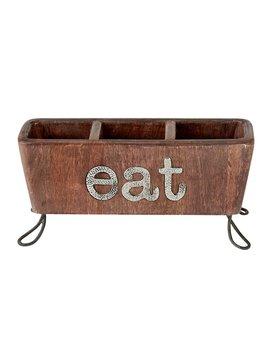 Eat Flatware Caddy by Mud Pie