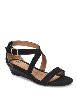 Innis Criss Cross Wedge Sandal by Sofft
