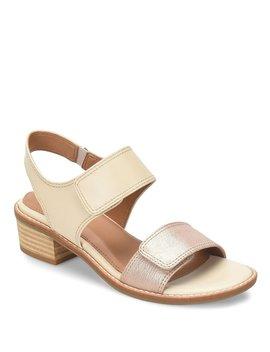 Baja Leather Block Heel Sandals by Comfortiva
