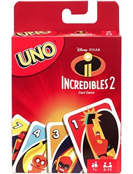 Uno Incredibles 2 Card Game by Mattel Games