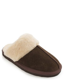 Chesney Faux Shearling Scuff Slippers by Minnetonka