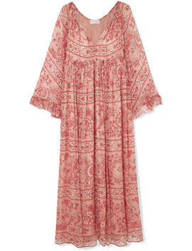 Castile Printed Silk Crepon Maxi Dress by Zimmermann