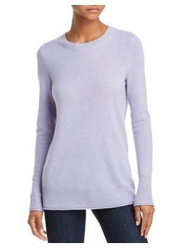 Fitted Cashmere Crewneck Sweater   100 Percents Exclusive by Aqua Cashmere