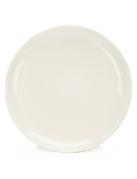 Naturals Glazed Stoneware Round Platter by Noble Excellence