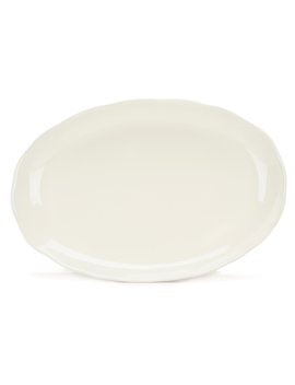Naturals Glazed Stoneware Oval Platter by Noble Excellence