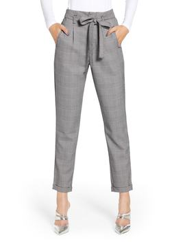 Paperbag Taper Leg Ankle Pants by Love, Fire