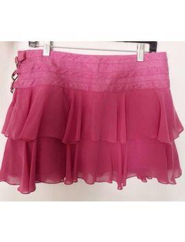 Abs By Allen Schwartz Size 8 Pink Linen Pleated Short Skirt by Abs By Allen Schwartz