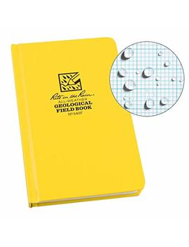 "Rite In The Rain Weatherproof Hard Cover Notebook, 4 3/4"" X 7 1/2"", Yellow Cover, Geological Pattern (No. 540 F) by Rite In The Rain"