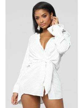 Powerful Feelings Shirt Dress   Ivory by Fashion Nova