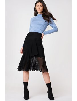 Fishnet Flounce Skirt by Na Kd Trend