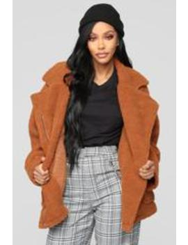 Bear Hugs Jacket   Camel by Fashion Nova