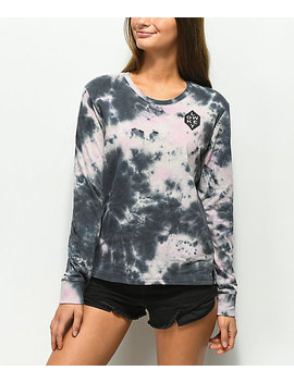 Empyre Rubino Low Key Pink & Black Tie Dye Long Sleeve T Shirt by Empyre