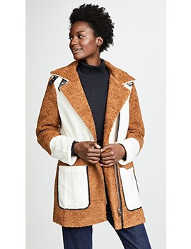 Faux Shearling Coat by Line & Dot