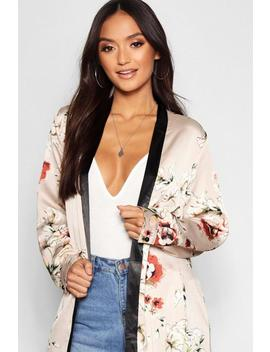 Petite All Over Floral Satin Maxi by Boohoo