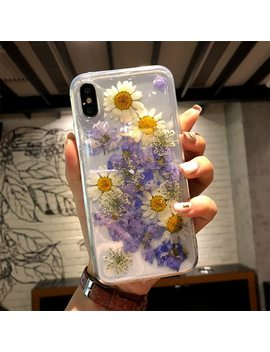Dried Flower Phone Case For I Phone X Xs Max Xr Transparent Soft Tpu Handsome Pressed Back Cover For I Phone X 8 7 6 6 S Plus Cases by Rockben