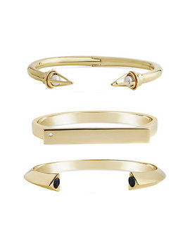 Sterling Forever 14 K Plated Cz Set Of 3 Cuffs by Sterling Forever
