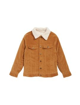 Corduroy Work Jacket With Faux Shearling Collar by Tucker + Tate