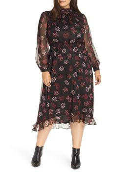 Floral Midi Dress by Vince Camuto