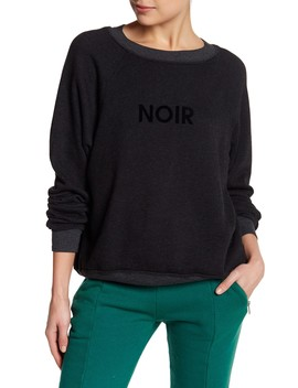 Noir Flocked Pullover Sweater by Wildfox