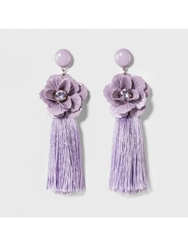 Sugarfix By Bauble Bar Tassel Drop Earrings With Flowers by Sugar Fix By Bauble Bar