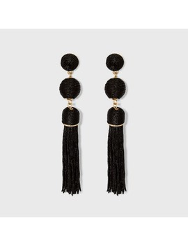 Sugarfix By Bauble Bar Monochrome Tassel Drop Earrings by Sugarfix By Bauble Bar