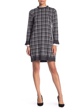 Long Sleeve Layered Look Dress (Petite) by Vince Camuto