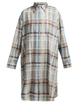 Checked Cotton Shirtdress by Acne Studios