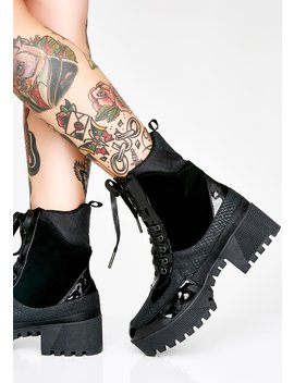 Night In Command Combat Boots by Cape Robbin