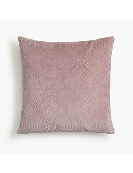 Compono Hourglass Embroidered Pillow by J.Crew