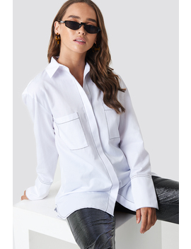 Contrast Seam Detail Shirt by Na Kd Trend