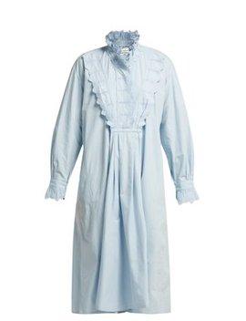 Molan Ruffled Cotton Midi Dress by Isabel Marant Étoile