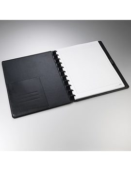 "Staples® Arc Customizable Leather Notebook System, Black, 9 1/2"" X 11 1/2"" by Staples"