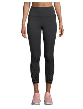 High Rise Leopard Mesh Cropped Leggings by Kate Spade New York