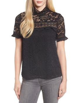 X Glam Squad Sheaffer Lace Top by Gibson